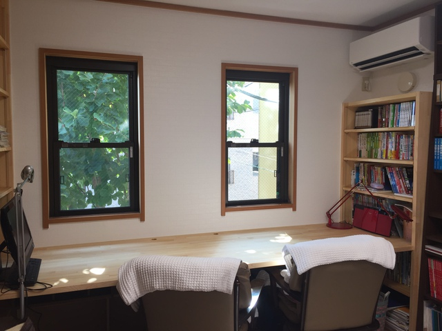 使い易く収納たっぷり 勉強部屋のリフォーム